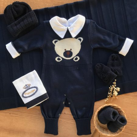 Kit Completo Saida Maternidade Urso Marinho