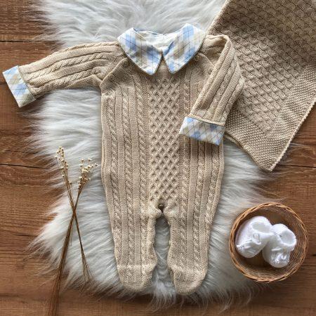 Body Bebê em Algodão Pima com Gola Branco