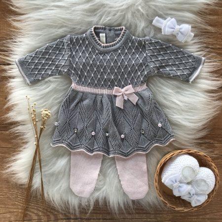 Vestido e Calça Bebe Prematuro